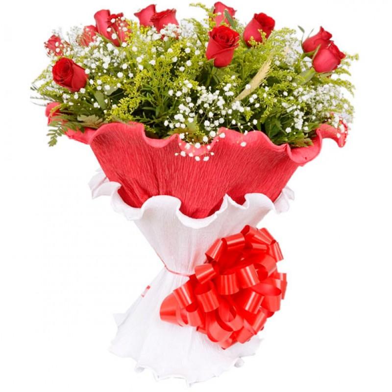 Buquê Especial 55cm com 12 Rosas no Floral