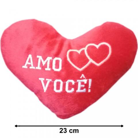 CORAÇÃO DE PELÚCIA AMO VOCÊ - 23CM