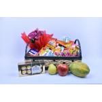 Bandeja de Café Standart com Frutas + Flor + Ferrero